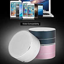Mini USB Music Player Portable Wireless Bluetooth Speaker Bluetooth Music Speaker with Mic - Silver and Gray