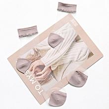 Women Girl Ultra-thin Transparent Breathable Socks Elastic Crystal Lace Ankle Socks