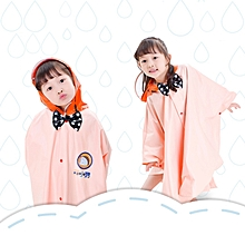 Age Above 3 Kids British Style Cartoon Reusable Cloak Raincoat Hoodies(Yellow L)