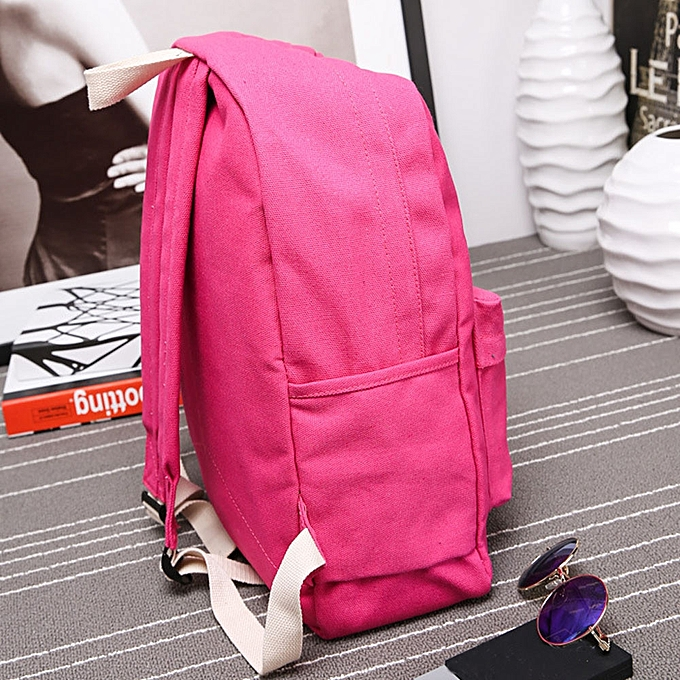 Women Girls Canvas Preppy Shoulder Bookbags School Travel Backpack Bag 1f09b5f3fc128