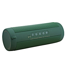 T2 BT Speaker Waterproof Portable Outdoor Mini Column Box Speakers Support TF Card FM Stereo Hi-Fi Boxes Green