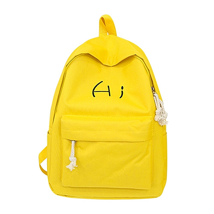 7fb736e8b1c1 Generic koaisd Unisex Canvas Letter Backpack Outdoor Travel Backpack ...