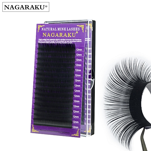 d735508c639 Generic NAGARAKU 16mm Faux mink individual eyelash extension cilia lashes  extension for professionals soft mink eyelash extensionCurl: C Thickness:  0.10mm
