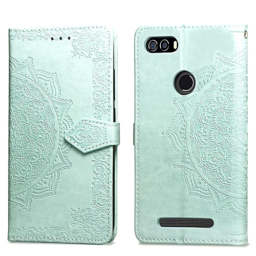 official photos 8188a 050a5 Leagoo Kiicaa Power Case,Mandala Embossing PU Leather Magnetic Flip Folio  Kickstand Wallet Case with Card Slots Case for Leagoo Kiicaa Power Green