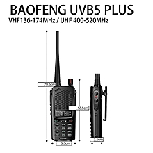 BAOFENG BF-UVB5 Plus UHF / VHF Walkie Talkie Power Portable Ham Two Way Radio