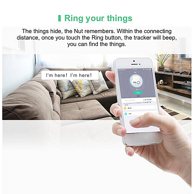 nut 2 Smart Tracker Mini Finder Wireless BT Tag Tracker Tracking Reminder  Anti-lost Alarm GPS Locator for Child Key Wallet for Android iPhone iPad