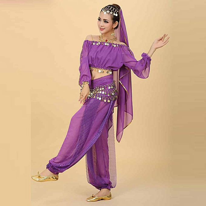 b530e48be Womens New Belly Dance Costumes Set Indian Dancing Dress Clothes Top Pants
