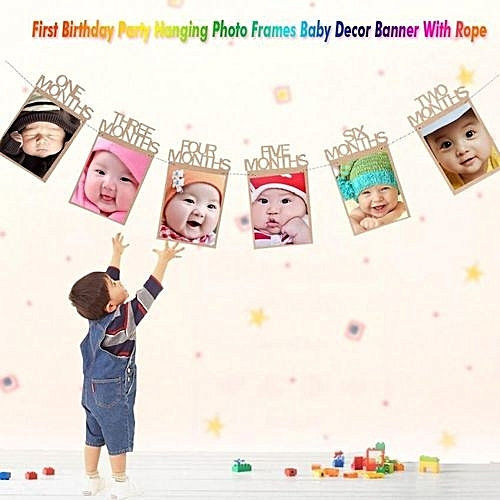 Buy Universal 1st Birthday Party Hanging Photo Frames Props Baby