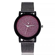 vansvar Casual Quartz Stainless Steel Newv Strap Watch Analog Wrist Watch-Black