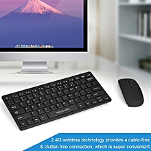 Wireless Keyboard + Mouse Kit VBESTLIFE 2.4G Wireless Keyboard + Mouse Kit Keypad Ultra-Slim For Apple iOS Android PC Laptop