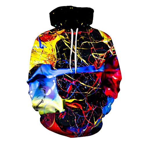 0eb9c9845 Generic TB Autumn Winter Men Pullover 3D Coloured Printing Hooded Long  Sleeved Hoodie multicolour
