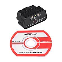 Car Diagnostic Scanner KW901 OBDII Car Diagnostic Scanner Code Reader Bluetooth 3.0 for Android Black LBQ