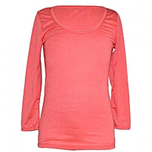 Coral Long Sleeved Womens Tops