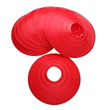10Pcs Football Soccer Rugby Hockey Training Space Markers Cones Disc Coaching AID