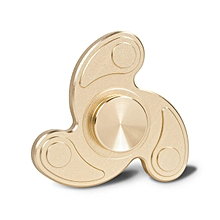 Fidget Spinner, Gold Tri Fidget spiner Hand spinners Toy Stress Reducer  Anxiety, and Autism for Kids and adults (Gold)