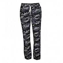 Grey Camo Jogger Pants