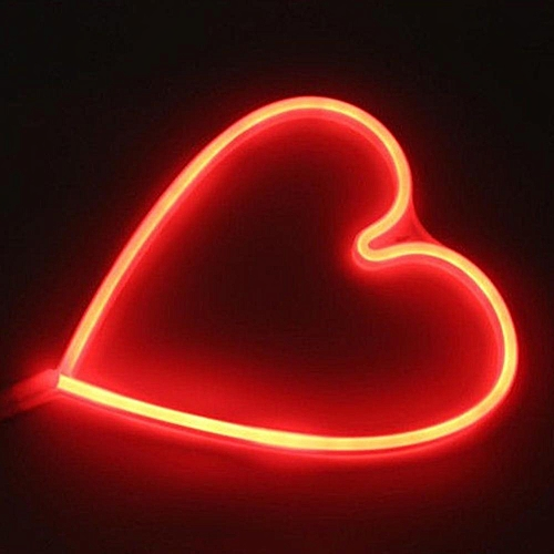 Buy Generic Waterproof Heart Shape LED Wall Light Decorative Wall ...