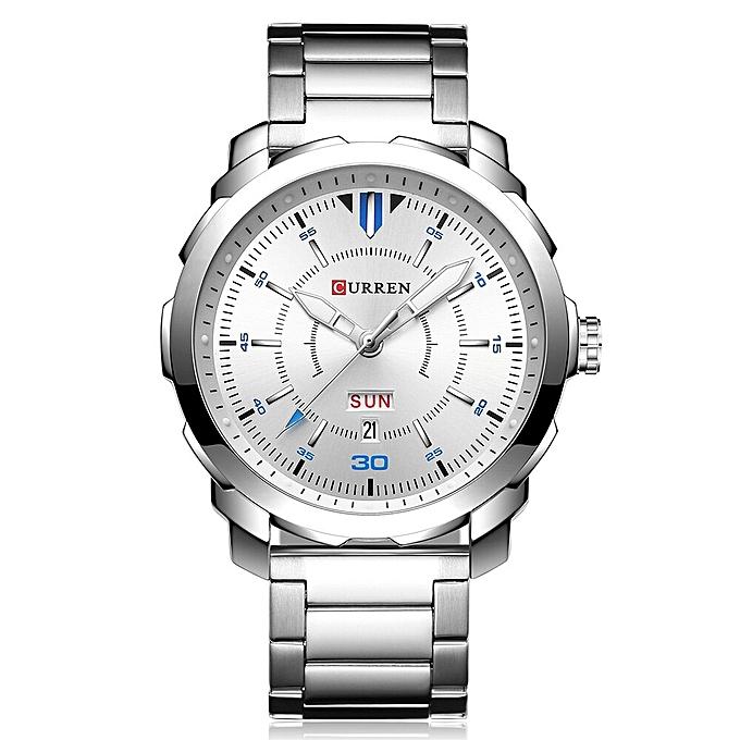 5c381ca858 Mens Watches Top Luxury Famous Watches Men Double Date Stainless Steel  Waterproof Quartz-Watch Relogio