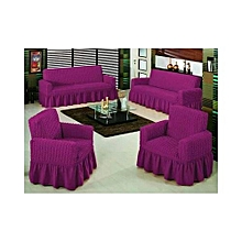 Sofa Seat Covers – 3+2+1+1  - Light Purple