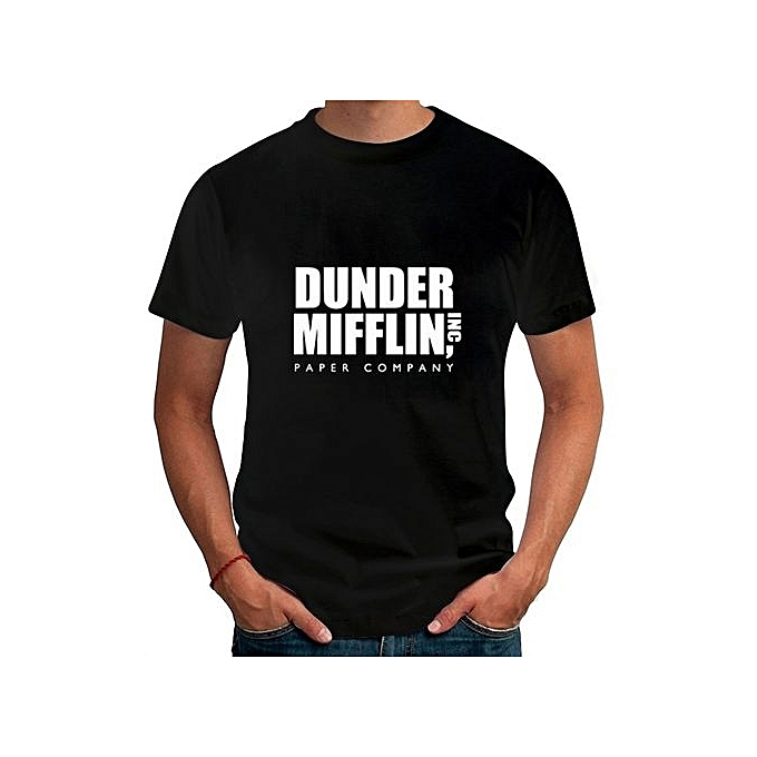 df59dde76388e Men s Fashion T-shirt Summer Mens Dunder Mifflin Paper Inc Printed T-Shirts  Tops