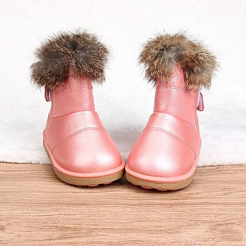 5776e710cc290 Generic bluerdream-Cotton Winter Baby Boys Girls Child Leather Shoes Martin  Boot Warm Shoes PK 21-Pink