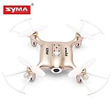 SYMA X21W Mini RC Quadcopter RTF WiFi FPV 0.3MP Camera / Altitude Hold / G-sensor Mode_GOLDEN