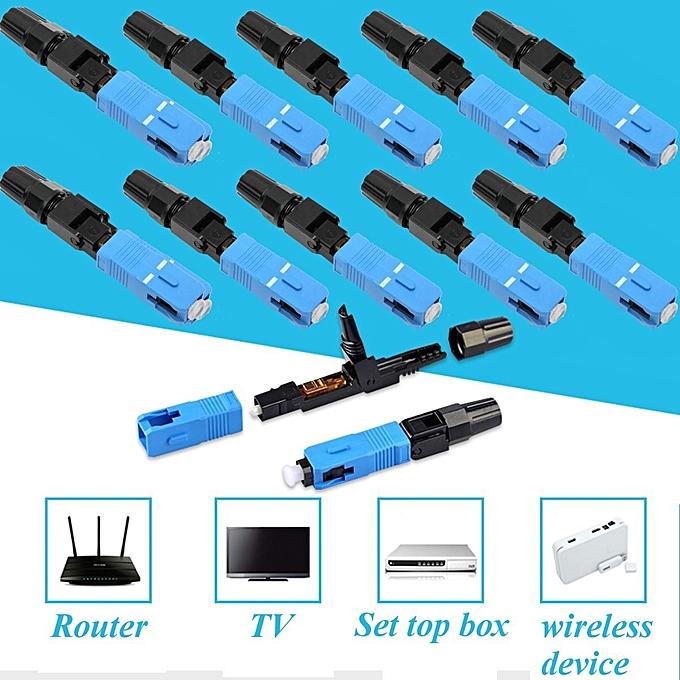 60pcs Fiber Optic Quick Fast Connector Adapter For UPC FTTH SC Single Multi  Mode