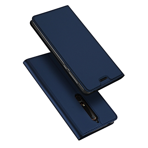the best attitude b67b7 f6923 Nokia 6.1 (Nokia 6 2018) Leather Case, Pu Leather Flip Wallet Case Cover  For Nokia 6 2018 With Stand Function And Card Slot-Blue