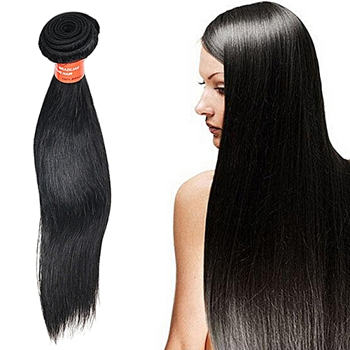 Sanwood 1 Bunch Long Black Straight Virgin Human Hair Natural Remy Hair  Extensions Wigs d68067f26