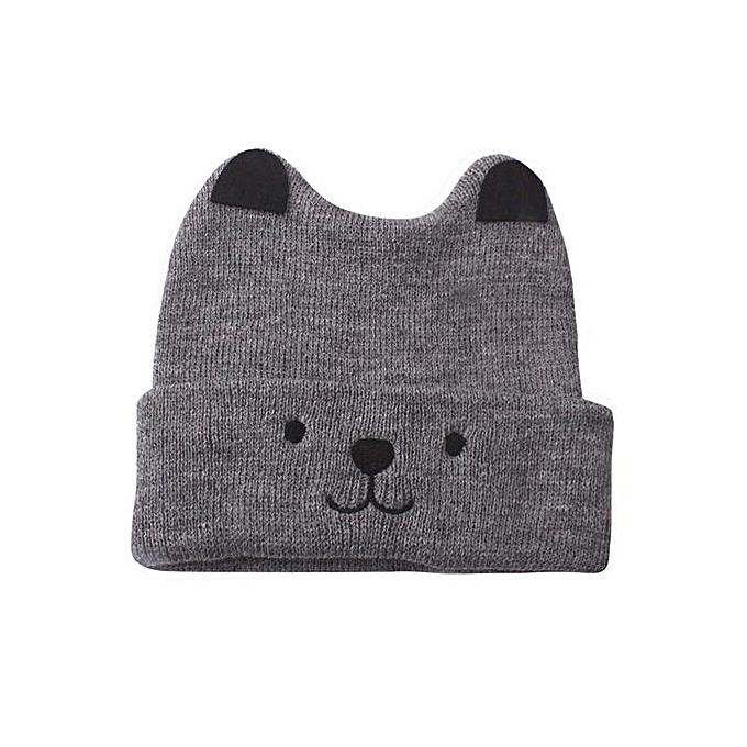 5cd78e858ed Hiaojbk Store Toddler Kids Girl Boy Baby Cartoon Bear Warm Crochet Knit Hat  Beanie Cap Hat- ...
