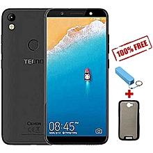 "Camon CM - 5.7"" - 16GB - 2GB Ram - Midnight Black + Free Power Bank + Free Flip Cover."