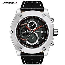 SINOBI Watches Men Brand Men Sport Watches Men's Quartz Clock Man Casual Military Waterproof Wrist Watch Relogio Masculino (Black) WWD