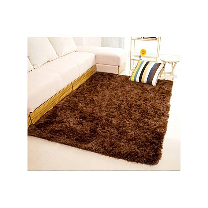 Fluffy Rug Anti Skid Gy Area Dining Room Carpet Bed Side Floor