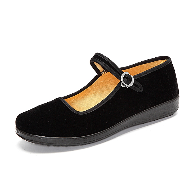10b968144 ... Women Ladies Ballerina Ballet Boat Shoes Mary Jane Work Velvet Rubber  Flats