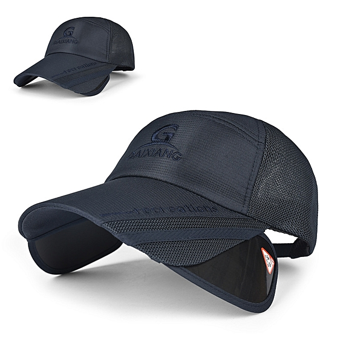 d4d7aed7780 Unisex Men Women Polyester Mesh Wide Brim Baseball Cap Adjustable  Breathable Outdoor Hat