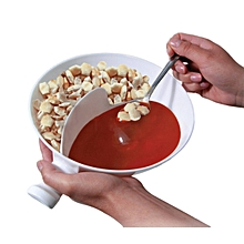Multifunctional Plastic Cereal Snacks Bowl Separate Containers for Snacks and Milk Salad Cutter Bowl
