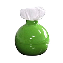 Bomb Shape Pumping Paper Tissue Boxes Holder Livingroom Bedroom Bathroom - Green