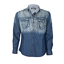 Blue Denim Slim Fit Shirt