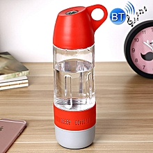 2 in 1 Portable and Essential Outdoor Supplies Hermetic 400ml Bicycle Sport Water Bottle Music Bluetooth Speaker, For Mobile Phone & MP3 & MP4 & PSP with Bluetooth Function(Red)
