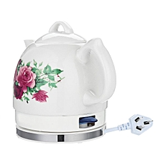 Ceramic Electric Country Rose Cottage Kettle Retro Vintage English Rose Tea Pot