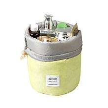 Barrel Travel Cosmetic Drawstring Wash Makeup Organizer Storage Toiletry Bag