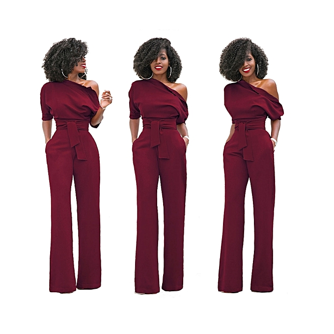 44c5fdc5769 New Women Off The Shoulder Elegant Jumpsuits Women Plus Size Rompers Womens  Jumpsuits Short Sleeve Female