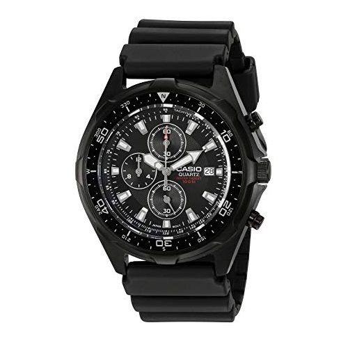 Men's Quartz drive chronograph Black resin band AMW330B-1AV