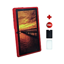 Q75S Tablet - 7 inch, 8GB, 512MB RAM, WiFi, Red+ free screen protector + pounch