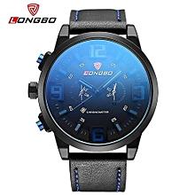 Watches, 80192 Watch Men Brand Sport Designer Dial Watches with Date Scratch Resistant Shockproof Waterproof Quartz Watch - Black