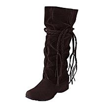 bluerdream-Women Heighten Platforms Thigh High Tessals Boots Motorcycle Shoes BW/37-Brown37