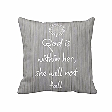 Letters Printed Square Throw Pillow Case Cushion Cover Home Decor