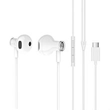 origin-al Xiaomi BRE02JY Noise Canceling USB Type-C Dynamic Driver Earphone In-ear Earbuds with Mic - WHITE