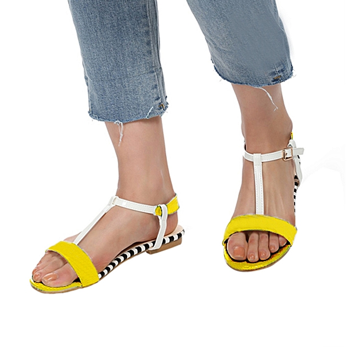 f515f9589 Women Summer Round Toe Breathable Peep-Toe Beach Sandals Rome Casual Flat  Shoes