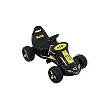 Go Kart, 4 Wheel Ride on Car, Pedal Powered Ride On Toys for Boys & Girls(Black)